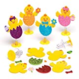 Baker Ross Bastelsets 'Osterküken' mit Hüpffunktion - Perfekt als Ostergeschenk oder als kleine Party-Überraschung für Kinder (6 Stück)
