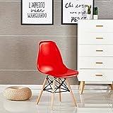 P & N Homewares® Moda Stuhl Kunststoff Retro Esstisch Stühlen Moderne Möbel Retro rot