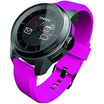 Reloj Cookoo SmartWatch Bluetooth 4.0 Negro/Rosa para iPhone,iPad,iPod Touch (iOS 5 / iOS 6)
