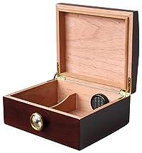 TateModern CHIYODA 100% Handmade Spanish Cedar Thick Wood Humidor Case Cigar Storage Box