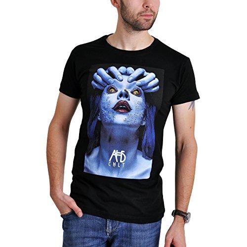 American Horror Story Herren T-Shirt Blue Bee Face Cult Baumwolle Schwarz Schwarz