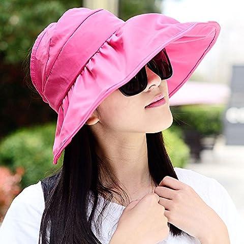 Les femmes Visor Hat Large Bord Cap Protection anti-UV Sun