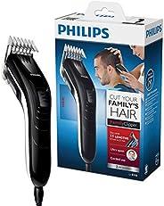 Philips QC5115/15 - Cortapelos silencioso con peine de 11 posiciones, Cuchillas de acero inoxidable, Uso con c