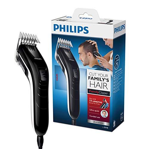 Philips QC5115/15 - Cortapelos silencioso con peine de 11 posiciones, Cuchillas de acero inoxidable...