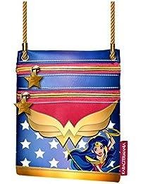 Karactermania Dc Super Hero Girls Wonder Women Bolso Bandolera, 17 cm, Azul