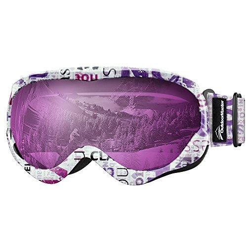 OutdoorMaster Baby Jungen Kinder Ski-Helm Kompatible Schneebrille Mädchen mit 100% UV-Schutz...