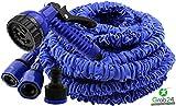 GYD Gartenschlauch Set Bewässerungsschlauch Automatik-Flexibler-Gartenschlauch 30m. ausgedehnt, blau