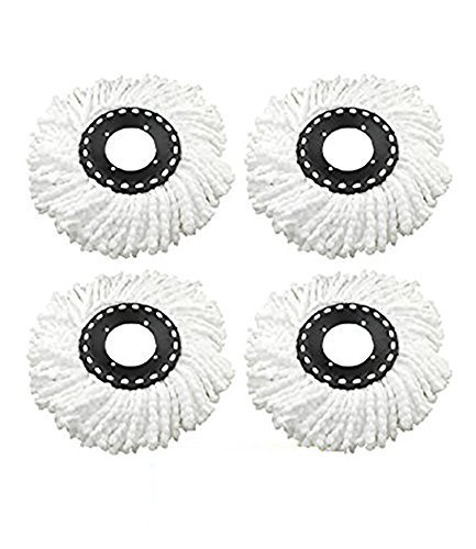 Inspire Best Quality Test Pack of 4 Replacement Head Refill for 360 Rotating Easy Mop Magic Mop Spin Mop Cleaner Duster  available at amazon for Rs.375