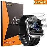 Fitbit Blaze Schutzfolie, PEMOTech [Pack of 6] [extrem dünne Dicke] [9H Härte] [Kristallklar] [Anti-Kartz][Premium-gehärtetes Glas] für Fitbit Blaze Smart Watch 2016 (Pack of 6)