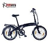 Fitifito Paris 20 Zoll Elektrofahrrad Faltrad Klapprad E-Bike Pedelec, 36V 250W Bafang Heckmotor,...