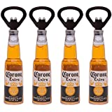 Ocasa Retails Beer Bottle Shape Corona, Miller, Budweiser Guinness Opener Cum Fridge Magnets (Brown, Oca12) - Pack Of 1