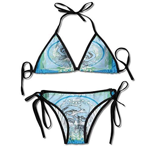 Custom Bikini Top Michael Kors Koi Fish Pattern Sacred Ethnic Printing Bikini
