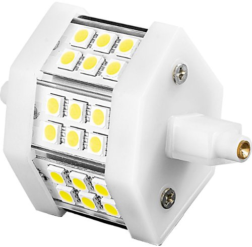 Luminea LED-SMD-Leuchtmittel R7S: LED-SMD-Lampe m. 18 High-Power-LEDs R7S 78mm,tageslichtweiß, 350 lm (LED-SMD-Licht R7S Tageslicht) -