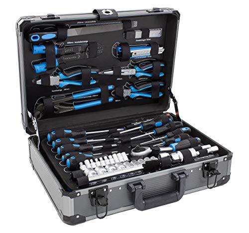 Karcher Mallette à outils 101 pièces - Ensemble d'outils avec marteau, tournevis, jeu de douilles et beaucoup plus