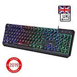 KLIM Chroma Gaming Keyboard - [ QWERTY UK LAYOUT ] - Wired Backlit