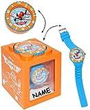 """4 in 1 - """" Disney Planes - Flugzeug Dusty """" - incl. Name - Armbanduhr wasserdicht & Wecker & Spardose & Fotorahmen - 3-D Effekt Motiv - Analog - passend für Kinder & Erwachsene - Kinderuhr / Lernuhr - Kunststoff Armband - für Jungen - Analoguhr - Uhr Quarz - Quarzuhr / Kinder-Armbanduhr Silikonarmband - Jungenarmbanduhr / Kinderarmbanduhr / Kunststoff Plastik - Sparbüchse - Sparschwein - Flugzeuge Cars"""