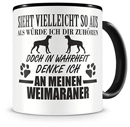 Samunshi Ich denke an meinen Weimaraner Hunde Tasse Kaffeetasse Teetasse Kaffeepott Kaffeebecher...