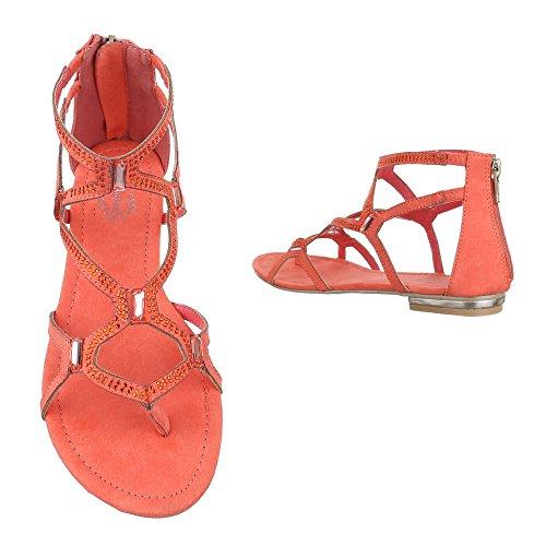 Ital-Design , Sandales pour femme Corail