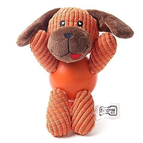 jouet pour chien, NEEDOON Jouet multifonctionnel de crabot grinçant de peluche avec la bille en caoutchouc, formation de Doggy pour le meilleur pour le jeu d'intérieur ou extérieur, cadeau pour votre crabot (chiot)