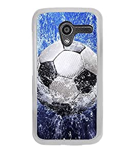 Football in Water 2D Hard Polycarbonate Designer Back Case Cover for Motorola Moto X :: Motorola Moto XT1052 XT1058 XT1053 XT1056 XT1060 XT1055