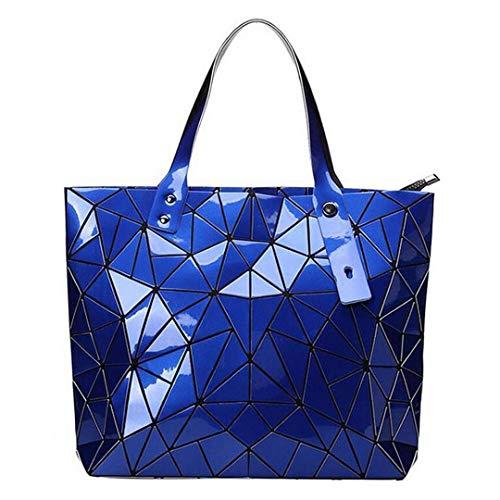 Frauen Handtasche Strandtaschen Hologramm Schultertasche Messenger Clutch Blue -