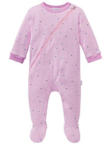 Schiesser Mädchen Zweiteiliger Schlafanzug Puppy Love Baby Anzug mit Fuß Rot (Rosa 503) 86