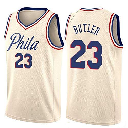 Jimmy Butler # 23 Herren Basketball Jersey - NBA 76ers, New Fabric Embroidered Swingman Jersey Ärmelloses Shirt White-B-L