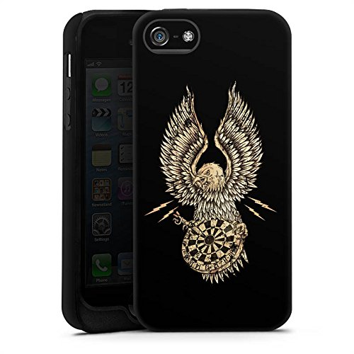Apple iPhone X Silikon Hülle Case Schutzhülle Dart Adler Darts Tough Case matt