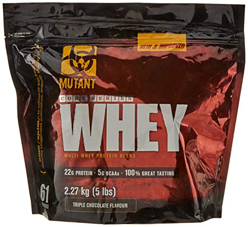 MUTANT WHEY - Muscle-Building Whey Protein Powder Mix in Great Flavors and Enzyme Fortified for Optimal Digestion, 2.27 Kg (5 lb) - Triple Chocolate