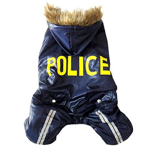 Smalllee lucky store costume da zucca di halloween con pile per cani/gatti,