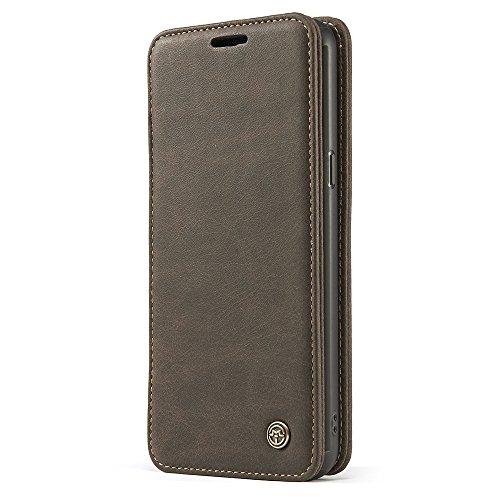 Halter Designer-ausführungen (Samsung Galaxy S8 Flip Case Handy Klapp Hülle Echt Leder mit Ring Finger Halterung Kartenfach Handytasche Schutzhülle von Harrms)
