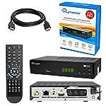 HB DIGITAL SAT Receiver SET: Hochwertiger DVB-S/S2 (Satelliten-) Receiver Skymaster HD S60 + HDMI Kabel von HB-DIGITAL mit Ethernet Funktion und vergoldeten Anschlüssen (Full HD, HDTV, HDMI, SCART, USB 2.0, Koaxial S/PDIF Ausgang, 230V)