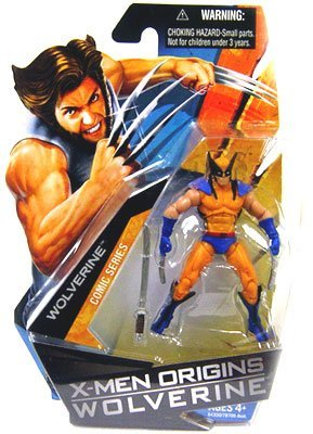 X-Men Origins Wolverine - Comic Series - WOLVERINE - (Anzug in blau & gelborange) - 3 3/4 Inch / 10cm Action Figur - OVP (X Men Anzüge)