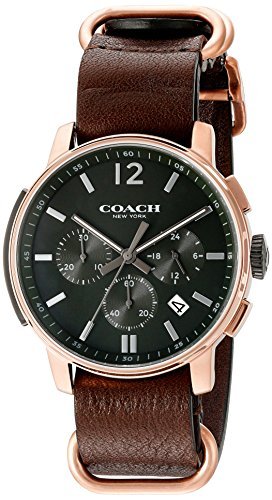 Black Dial Mens Analog Casual Quartz Coach Watch Bleecker 14602019