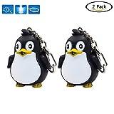 Kingmia LED Schlüsselanhänger Penguin Tasche Anhänger mit Sound und Licht Silikon Schlüsselanhänger Telefon Charms Kinder Geburtstag Party Geschenk