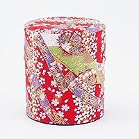 boîte à thé, recouvert de papier de soie japonais, motif de fleur, 150 g