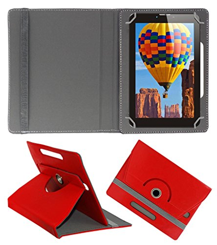 Acm Rotating 360° Leather Flip Case For Tescom Bolt 3g Tablet Cover Stand Red  available at amazon for Rs.149