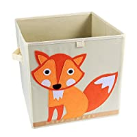 LEADSTAR Foldable Toy Storage Box, Cartoon Children Toys Chest and Closet Organizer for Kids (Smiling Owl)