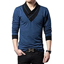 Seven Rocks V-Neck Solid Cotton T-shirt for men