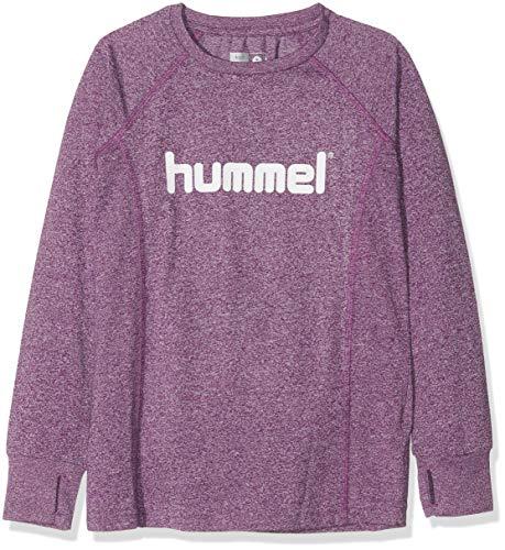 Hummel Mädchen HMLPUTTE T-Shirt L/S, Grape Juice, 128