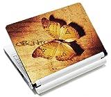 MySleeveDesign Notebook Skin Aufkleber Folie Sticker für Geräte der Größe 10,2 Zoll / 11,6 - 12,1 Zoll / 13,3 Zoll / 14 Zoll / 15,4 - 15,6 Zoll mit VERSCH. DESIGNS - Golden Butterfly