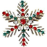 Xuniu Mode Brosche, Weihnachten Dekorative Schneeflocke Brosche Frauen Mädchen Pin Strass