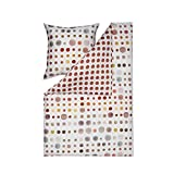 Estella Bettwäsche Spot 4709 930 Ziegel Punkte Kreise Mako-Satin 135x200 cm + 80x80 cm