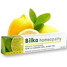 La homeopatía Bilka, pasta de dientes homeopática con xilitol, sabor a limón, fluoruro