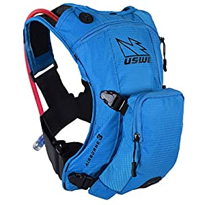 515f80I7aTL. SS300  - USWE Sports Unisex's Airborne 3 Hydration Pack, Blue, 3 litres