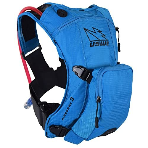 515f80I7aTL. SS500  - USWE Sports Unisex's Airborne 3 Hydration Pack, Blue, 3 litres