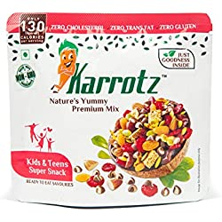 Karrotz – Healthy Mix of Top Quality Berries, Fruits, Nuts, Seeds, Choco Chips for Breakfast, Topping or Snacking (4 X 30gms packs of Choco-Chips Variant) – SuperFood