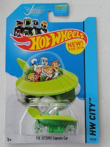 2014 Hot Wheels Hw City 90/250 - The Jetsons Capsule Car by Mattel