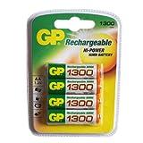 GP Batteries GP130AAHC-C4 Pack de 4 1300 mAh NiMH AA