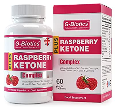 G-Biotics Himbeerketone Gewichtsabnahme Diät-Pillen ~ EXTRA HOCHWERTIGE Nahrungsergänzung Mit Zusätzlichen Grüner Tee-Extrakt, Extrakt der grünen Kaffeebone, Garcinia Kambodscha & Cayenne
